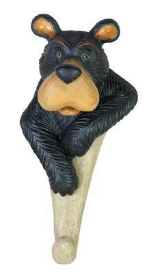 Titular de la clave 1 gancho perchero, oso cabeza de Busto ...