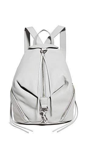 Rebecca Minkoff Women's Julian Backpack, Perla, Grey, One Size
