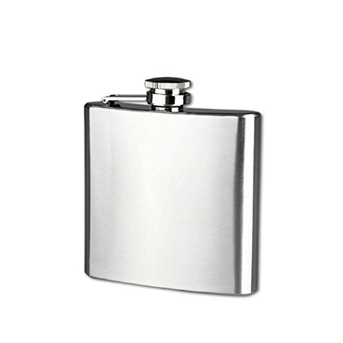 DZT1968 4/5/6/7/8/9/10 oz Stainless Steel Pocket Hip Flask Alcohol Whiskey Liquor Screw Cap (6 oz) (Electronic Liquor Dispenser compare prices)