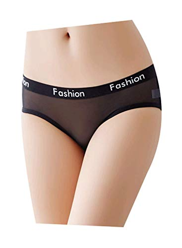 Justgoo Women's Sexy Sheer Panties Thongs Mesh G-Strings Hipster Underwear - Sheer Mesh Thong Panty