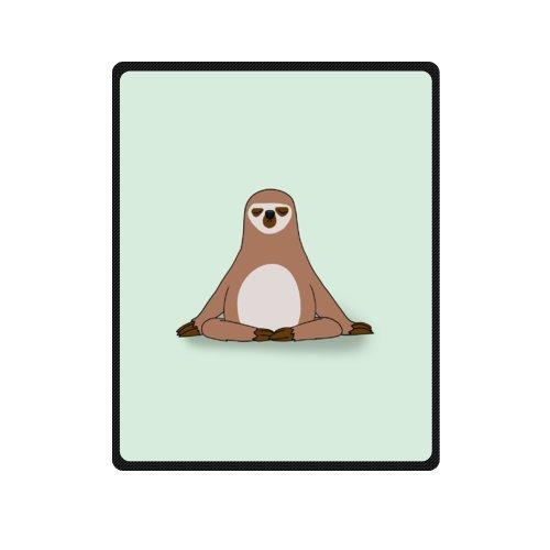 Stylish Sloth Meditation Soft Fleece Throw Blanket, Travel Blanket - 40 by 50 Inch by WECE