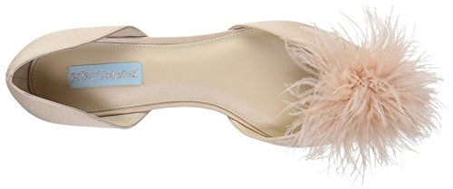 Blanc Champagne Femmes Betsey Satin Couleur Taille Plates 36 Johnson Chaussures xqUwwagAH