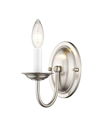 Neon Sign Imperial (Livex Lighting 4151-91 Home Basics 1 Light Brushed Nickel Wall Sconce)