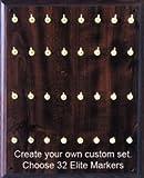 X-Ray Marker Wall Boards - Elite Set, 32 Brass Hooks