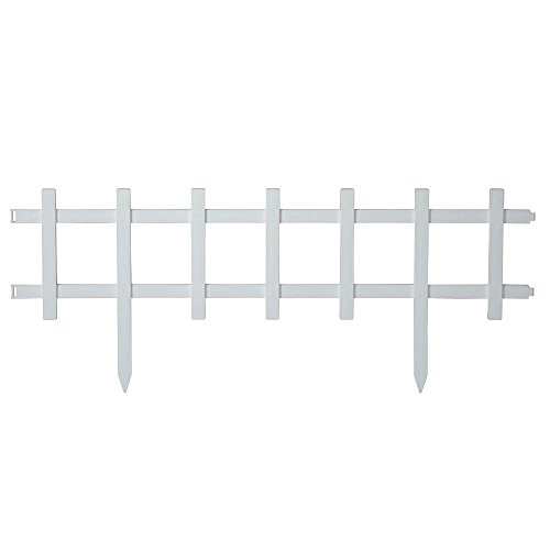 in. Resin Cape Cod Style Garden Fence, White, 18 Pack (Style Fence)