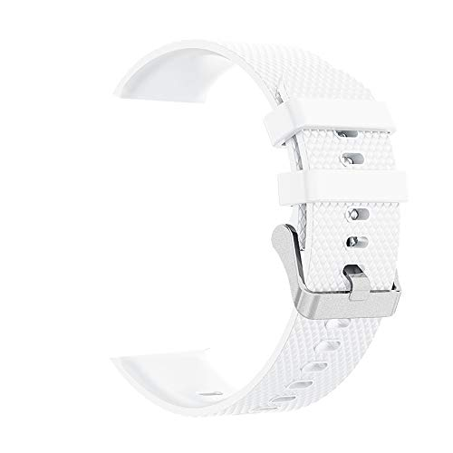 Stheanoo Replacement Band for Galaxy Watch 42mm Fashion Sport Diamond Texture Soft Silicone Smart Watch Replacement Strap for Samsung Galaxy Watch 42mm - Diamond White Strap Alligator