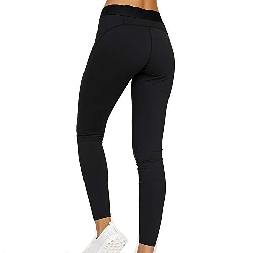 7TH SUMMER Non-See-Through Yoga Pants High Waist, Ankle Length Black Leggings for Women (Best Leggings That Aren T See Through)