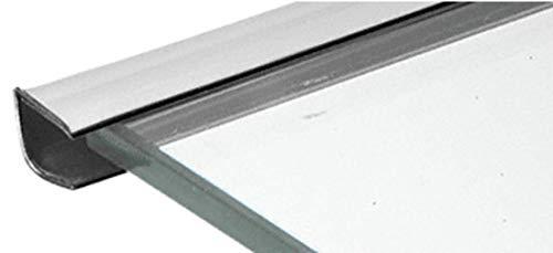 CRL Chrome Plastic Reflective Edge Mold - 96 in Long