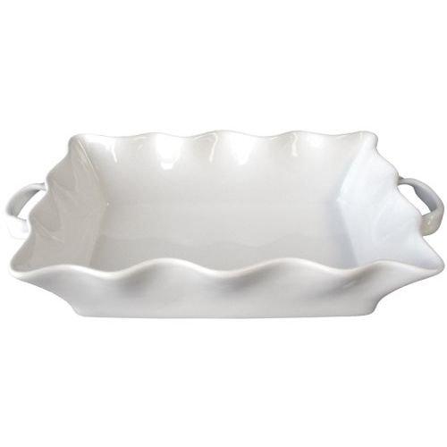 (BIA Cordon Bleu Wavy Collection 3-Quart Rectangular Baker with Handles, White)