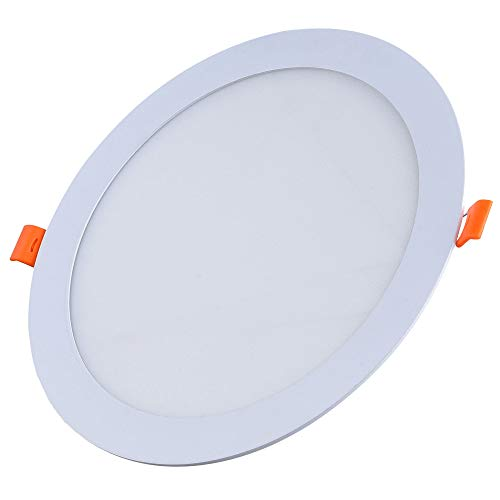 FactorLED ¡OFERTA! Downlight LED 20W Slim, Placa Circular Empotrable, Panel Redondo Extraplano 2400 lúmenes, Corte techo…