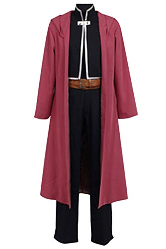 Ya-cos Fullmetal Alchemist Halloween Costume Edward Elric Cosplay Red Full Suit ()