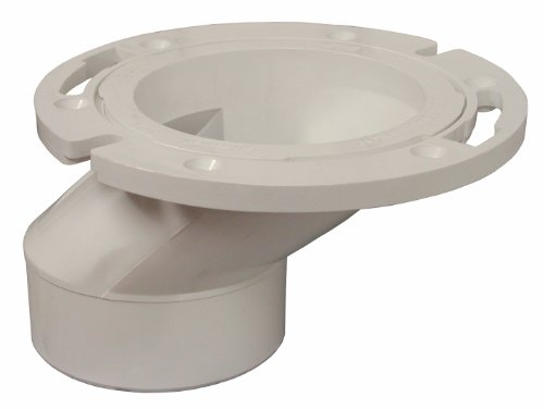 PlumBest C54402 3-Inch by 4-Inch PVC Offset Closet Flange with Plastic Swivel Ring Less - Closets Less For