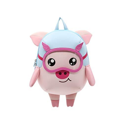 NOHOO 3D Little Kids Backpack Cute Preschool Toys Bag Best Gift for Toddlers (pig)