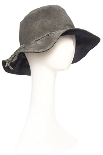 Minnetonka Unisex Moccasins Grey Parker Floppy Hat Grey Large