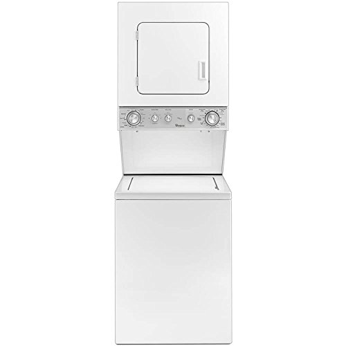 Whirlpool 24″ Stacked White Washer And Electric Dryer