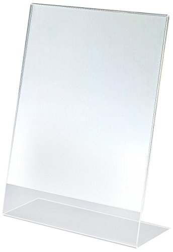 Marketing Holders Set of 25, Clear Acrylic Sign Frames for 8-1/2