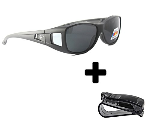 Fit Over Sunglasses Polarized Sunglasses to Wear Over Glasses plus car holder - Wear You Glasses Over Sunglasses Can Regular