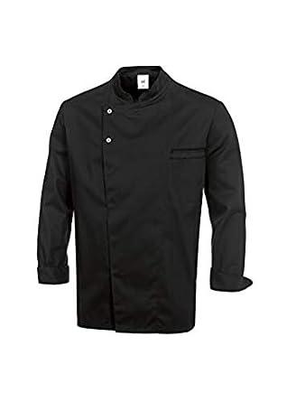 BP 1547-400-32-L - Chaqueta de cocinero, manga larga con puños (215,00 g/m2, mezcla de tela, talla L), color negro: Amazon.es: Industria, empresas y ciencia