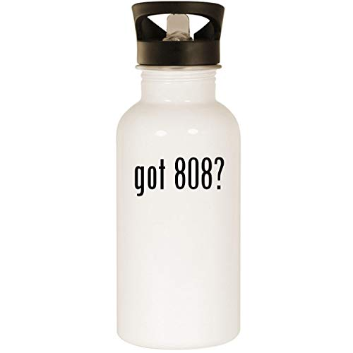 got 808? - Stainless Steel 20oz Road Ready Water Bottle, White