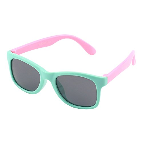 CGID Soft Rubber Kids Wayfarer Polarized Sunglasses for Children Age - Polarized Benefit Sunglasses