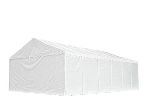 XXL Lagerzelt PROFESSIONAL 5x12m, hochwertige 550g/m² PVC Plane in weiß, vollverzinkte Stahlkonstruktion, Ø Stahlrohre ca. 50 mm, Seitenhöhe ca. 2,6 m