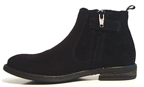 acebos Leder Stiefel Chelsea Boots Reißverschluss schwarz blau