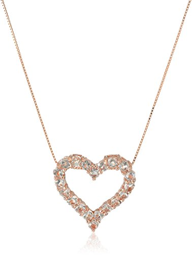 Rose Morganite Heart Pendant Necklace