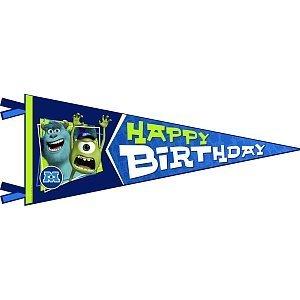 Hallmark Monsters University Inc. Happy Birthday Banner Pennant