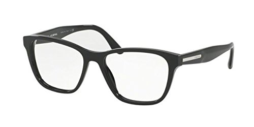 Prada PR04TV Eyeglass Frames 1AB1O1-52 - Black PR04TV-1AB1O1-52 by Prada