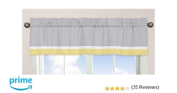 Amazon.com : Yellow, Gray and White Mod Garden Girls Window ...