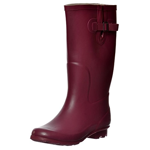 Knee High Flat Welly Wide-Calf  Rain Boots: Many Bright Color Choices