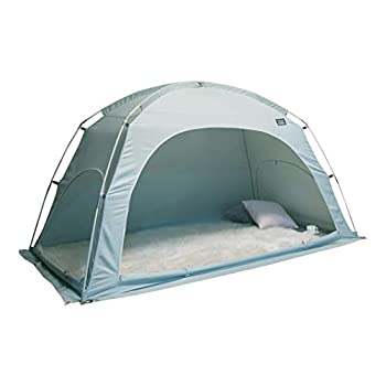 Image of Home and Kitchen DDASUMI Fabric Indoor Tent for Single Bed (Mint) - Blocking Cold air, Privacy, Play Tent
