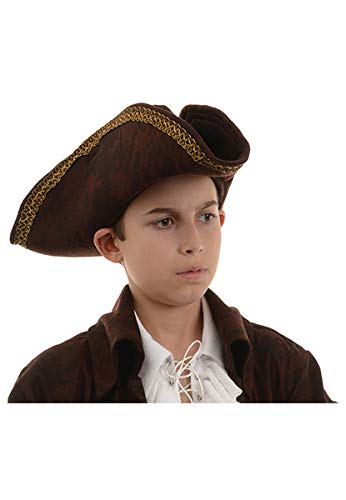 Underwraps Big Boy's Children's Pirate Captain Hat - Brown, One Size Childrens Costume, Brown, One Size -
