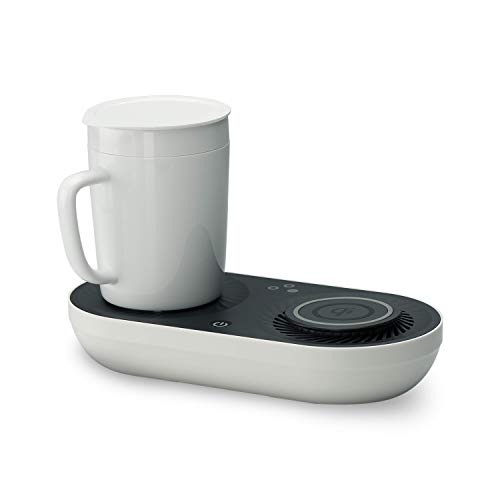 - Wireless Qi-Certified Fast Charger with Mug Warmer/Drink Cooler | Nomodo Trio