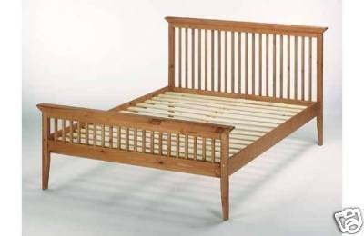 Comfy Living 4ft6 (135cm) Double Shaker Wooden Bed Frame: Amazon.co.uk:  Kitchen U0026 Home