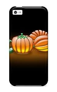 Fashion FPCqsSn504WNVqP Case Cover For Iphone 5c(aqua Pumpkins)
