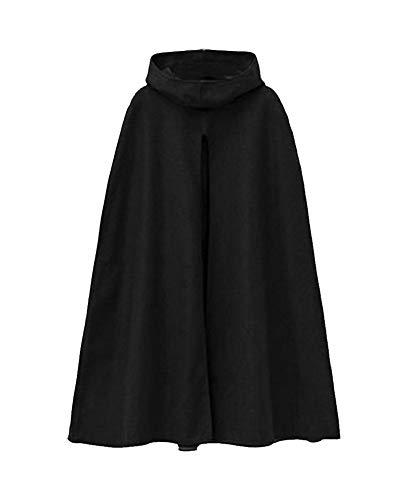 lgant Chaud Manteau Capuche Laine Cape de Veste Mlange Poncho Femme Noir Capuche Hiver q5TqdC