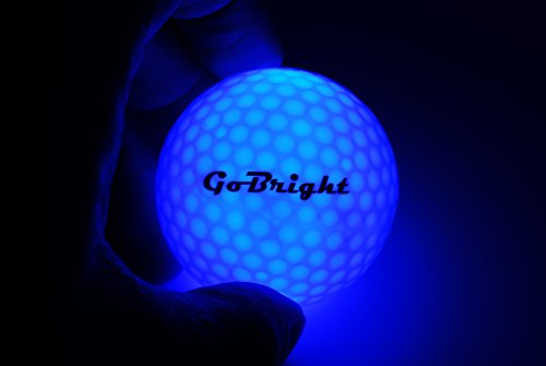 GoBright Blue LED Light Up Golf Balls - Ultra Bright Glow In the Dark Night Golf Balls (Pack of (Ultra Fun Ball)