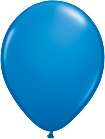 Dark Blue 5 Qualatex Latex Balloons x 10 by Standard Finish Solid Colour 5 Latex