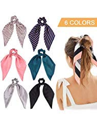 6Pcs Hair Scrunchies Satin Silk ...