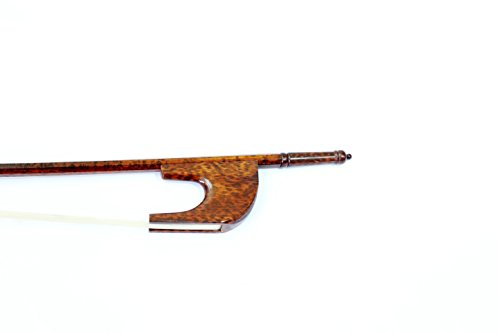 Vio Music Master Old German Baroque Style Beautiful Snakewood Double Bass Bow