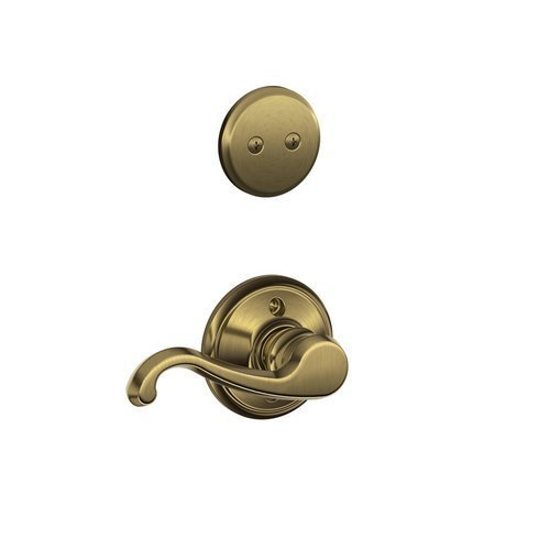 Schlage F94 Callington Left Hand Dummy Interior Trim Antique Brass Finish - Left Hand Callington Lever