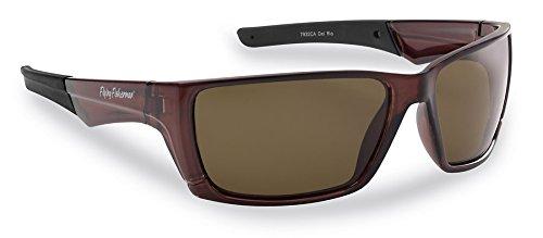 Flying Fisherman 7932CA Del Rio Ploarized Sunglasses, Crystal Brown Frames, Amber - Sunglasses Tint Amber