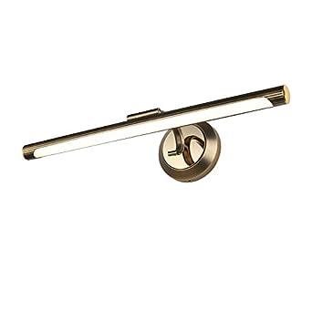 Retro Wasserdicht LED Antik Kupfer Acryl Spiegelleuchte Badezimmer  Spiegelleuchten , Kreativ 40 75CM Verhindern Rost