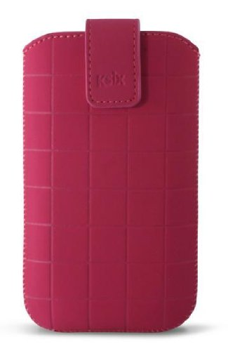 KSIX Roma Schutzhülle für Apple iPhone 5und Smartphones, Größe HL, Pink
