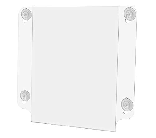 Marketing Holders 8 1/2W x 11H Sign Holder Double Sided Indoor Outdoor Suction Cups Advertising Signage Hours of Operation Directions Window Mount Photo Notices Document Signs