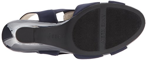 find great cheap price Anne Klein Women's Grand Fabric Heeled Sandal Navy/Navy Fabric cheap sale find great Ii7YeYgm