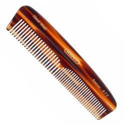 Kent The Handmade Comb - Fine and Coarse Toothed Pocket Comb Sawcut R7T, 130 mm (Dressing Table Comb)