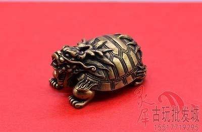 ZAMTAC Antique Old Brass Mini Mini Dragon Turtle Ornament