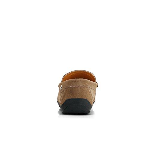 Miyoopark - Mocasines de Ante para hombre marrón